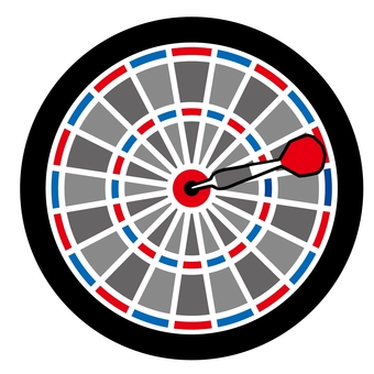 Dart board (Red Blue White)