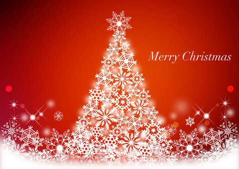 Christmas tree _ red background