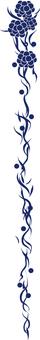 Decorative ruler · flower (blue)