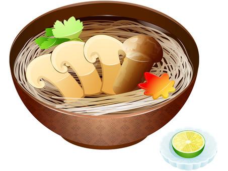 Autumn taste · Matsutake soba