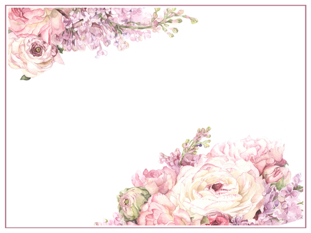 Letter background 16 - Ranunculus and Lira