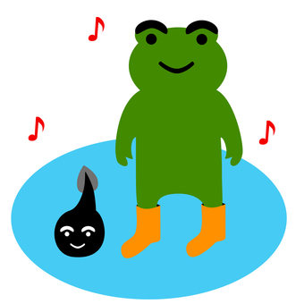Tadpole with frog
