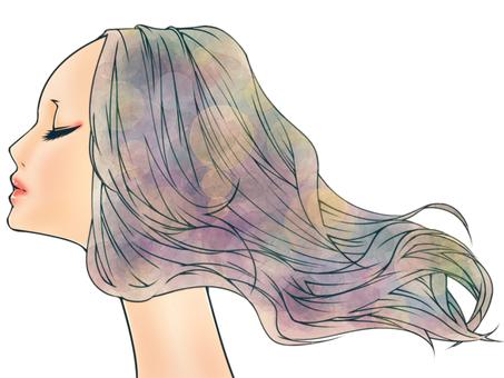 휘날리는 머리카락