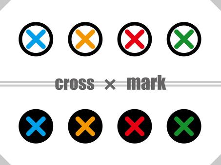 Cross mark round set TYPE01