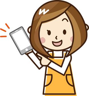 Nursery teacher fighting smartphone _ E 20