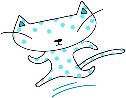 Cat character · jogging