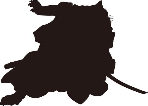 Ukiyo-e Silhouette 361