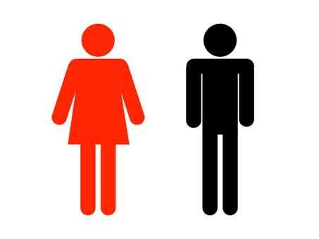 화장실 마크 화장실 검 붉은 선없이