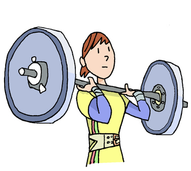Weight lifting ①