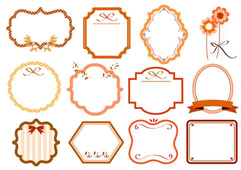 Assortment of autumn labels