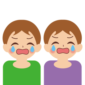 Baby (twin · crying face)