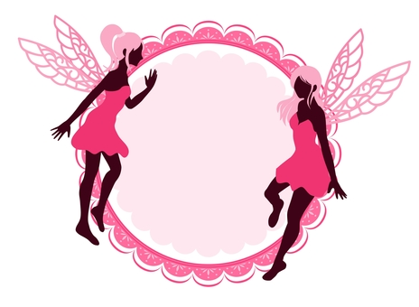 Fairy silhouette frame