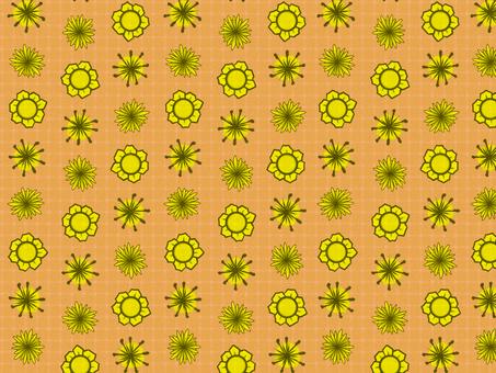 Chiyogami yellow flower (Orange)