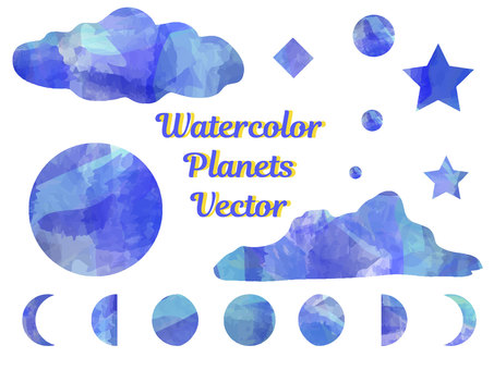 Watercolor celestial body