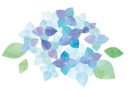 水彩繡球花1
