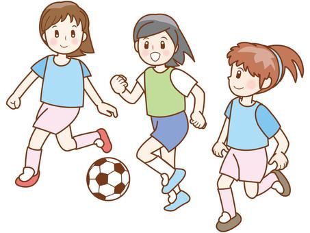 Soccer girl line B