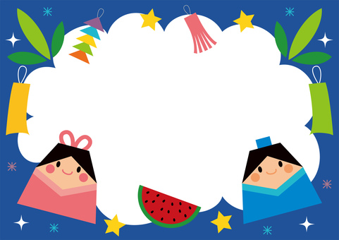 Tanabata frame for children