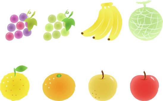 Watercolor style fruit illustration
