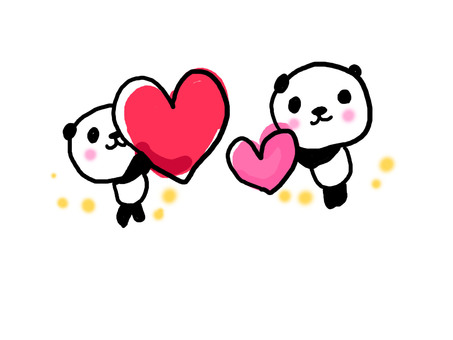 Сердечная панда