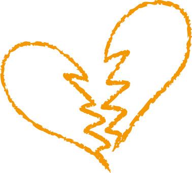 Heart (broken heart / orange)