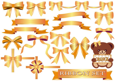 Ribbon set (Orange)