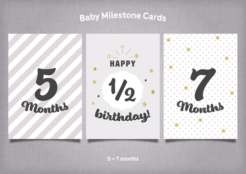 Monotone & golden age card 5 to 7 months