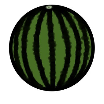 Without a hole Hall watermelon