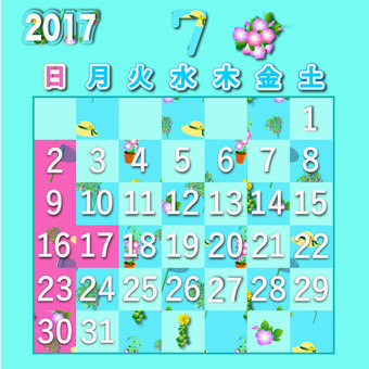 2017 calendar July