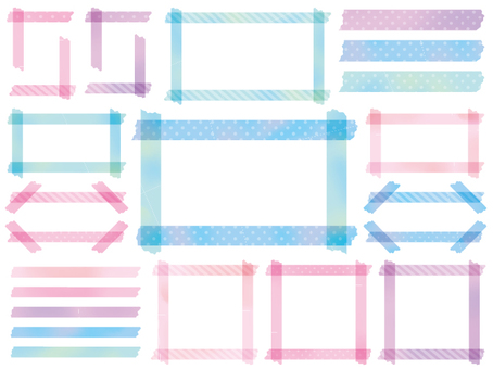 Masking tape watercolor frame