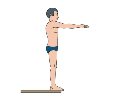 Dive board jump in (front jump)