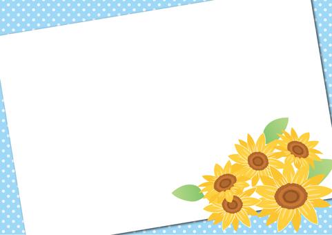 Summer material 039 Sunflower frame