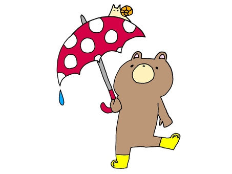 Umbrella and Bear and Snail 1 2