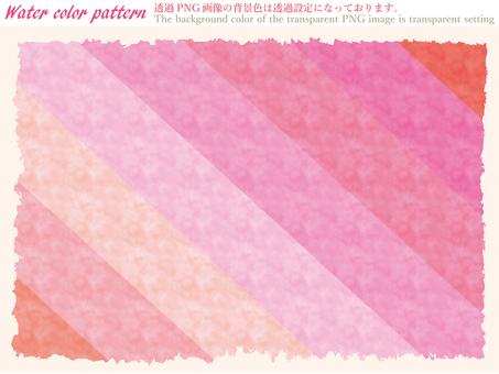 パターン背景ピンク色水彩スウォッチセット