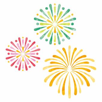 Fireworks transmission and white back