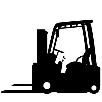 Fork lift silhouette black