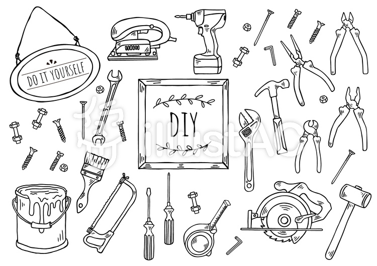 手描きイラスト:DIYのイラスト