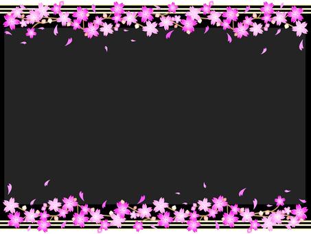 Simple 6 lines cherry blossom frame 02