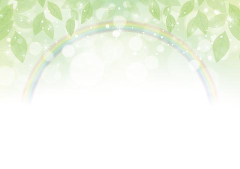 Fresh green and rainbow background 01