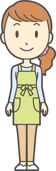 Apron youth long hair-267-whole body