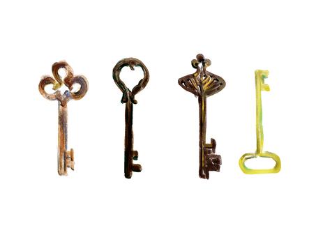 고풍스러운 열쇠