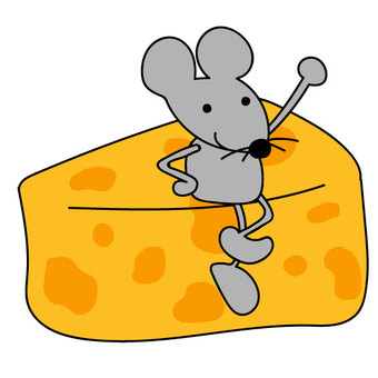 Mice riding on cheese