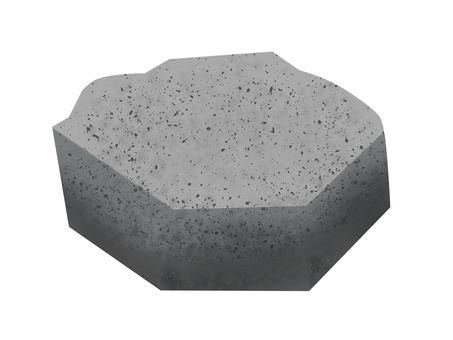 Stone, rock, illustration
