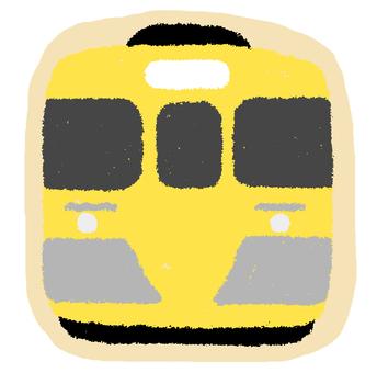 西武線的黃線火車片狀印章