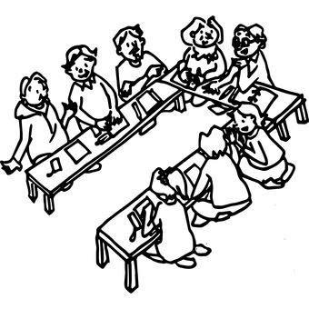 Conference landscape illustration