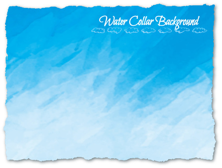 Watercolor background sky blue (light blue)