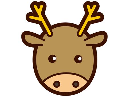 Cute deer's face