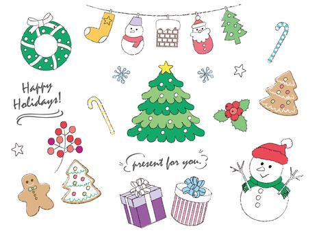 クリスマス_手描き風_2
