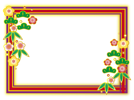 Shochiku plum decoration frame