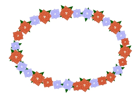 Square rose frame 1