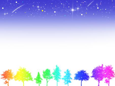 Sky and wood frame (night) 5